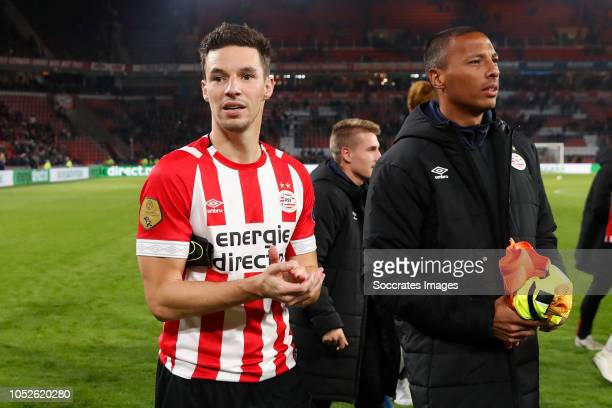 Nick Viergever of PSV Eloy Room of PSV during the Dutch Eredivisie match between PSV v FC Emmen at the Philips Stadium on October 20 2018 in...
