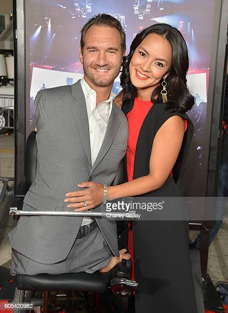 Nick Vujicic attends the 'Hillsong Let Hope Rise' premiere at the Westwood Village theater on September 13 2016 in Los Angeles California