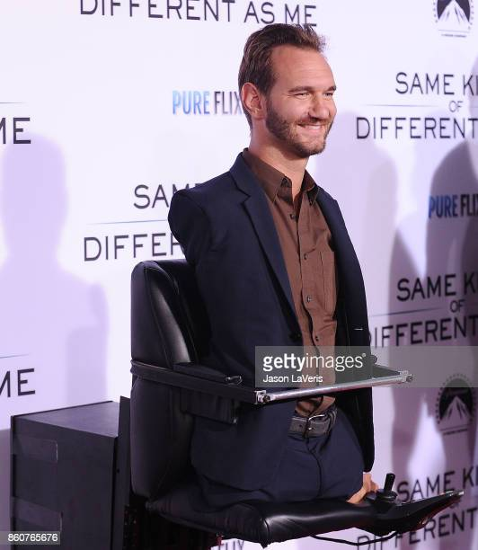 Nick Vujicic attends the premiere of 'Same Kind of Different as Me' at Westwood Village Theatre on October 12 2017 in Westwood California