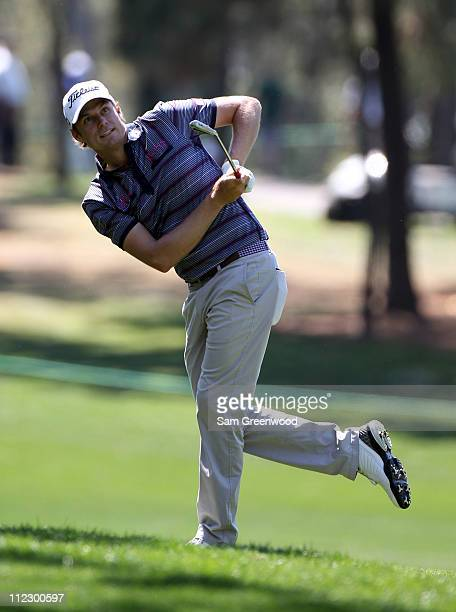 Nick Watney hits a shot during the first round of the Transitions Championship at Innisbrook Resort and Golf Club on March 17 2011 in Palm Harbor...
