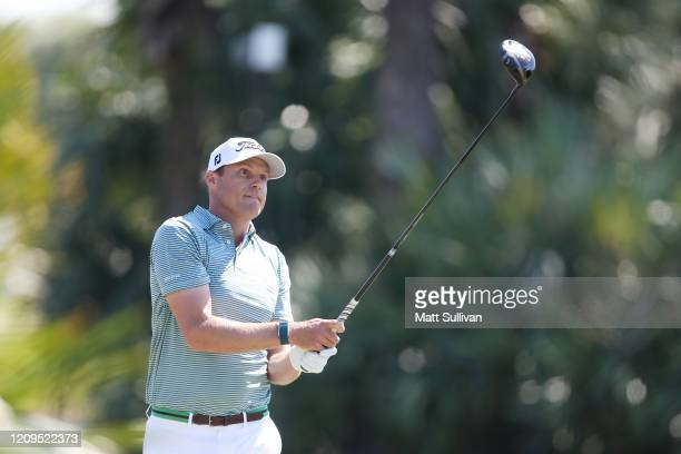 Nick Watney of the United States plays his shot from the second tee during the third round of the Honda Classic at PGA National Resort and Spa...