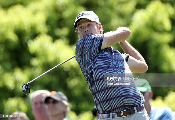 Nick Watney plays a shot on the 6th hole during the first round of the Transitions Championship at Innisbrook Resort and Golf Club on March 17 2011...