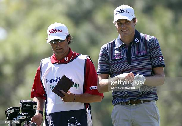 Nick Watney plays a shot on the 8th hole during the first round of the Transitions Championship at Innisbrook Resort and Golf Club on March 17 2011...