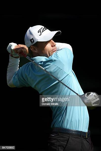 Nick Watney tees off the 7th hole during the Final Round of the Buick Invitational at the Torrey Pines North Course on February 8, 2009 in La Jolla,...