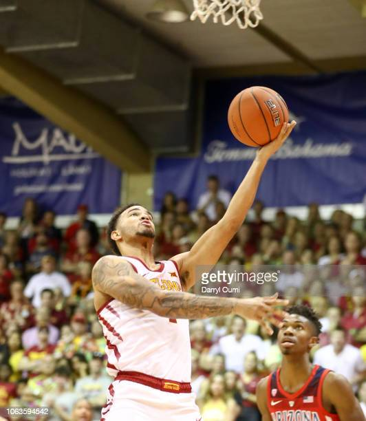 Nick WeilerBabb of the Iowa State Cyclones lays the ball in during the second half of the game against the Arizona Wildcats at Lahaina Civic Center...