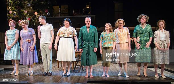 Nick Westrate, John Cullum, Gabriel Ebert, Mare Winningham, Tom McGowan, Patrick Page, Reed Birney, Larry Pine, and Lisa Emery during the Broadway...