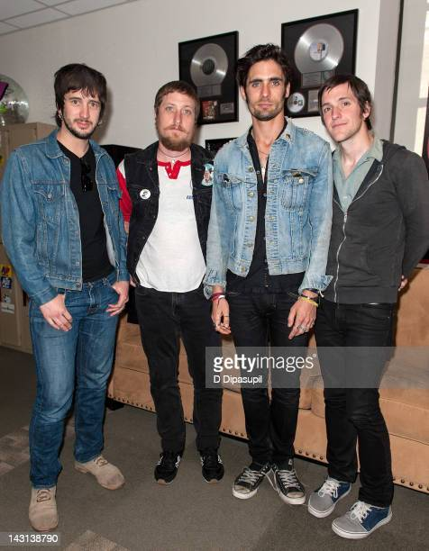 Nick Wheeler Chris Gaylor Tyson Ritter and Mike Kennerty of The AllAmerican Rejects visit Z100's Weekend Throw Down with Jagger at the Z100 Studio on...