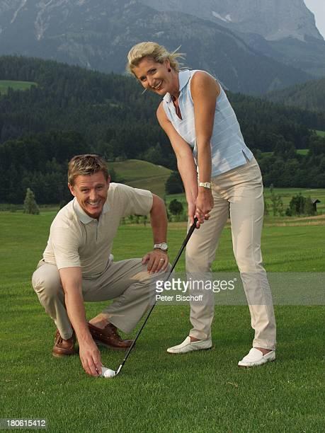 Nick Wilder Ehefrau Christine Mayn Urlaub Österreich Frau Golf Golfschläger Golfball Golfplatz