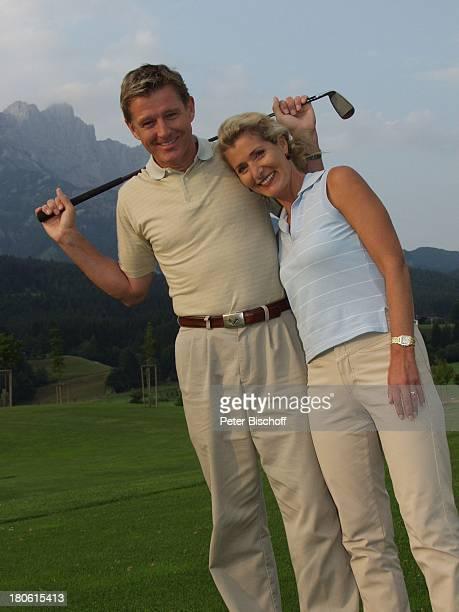 Nick Wilder, Ehefrau Christine Mayn, Urlaub Österreich, Frau, Golf, Golfschläger, Golfplatz,