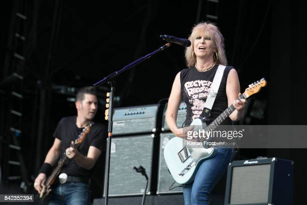 Nick Wilkinson and Chrissie Hynde of The Pretenders perform at Electric Picnic Festival at Stradbally Hall Estate on September 3 2017 in Laois Ireland