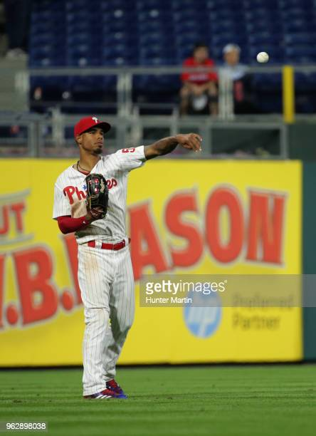 Nick Williams of the Philadelphia Phillies during a game against the San Francisco Giants at Citizens Bank Park on May 9 2018 in Philadelphia...
