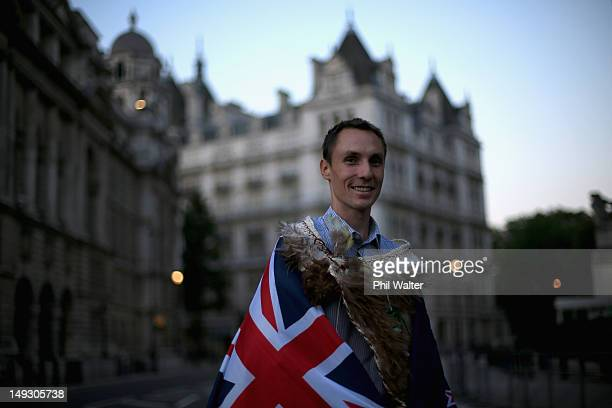 Nick Willis of New Zealand poses for a portrait after being announced as the flagbearer for the opening ceremony during the NZOC Governor General's...