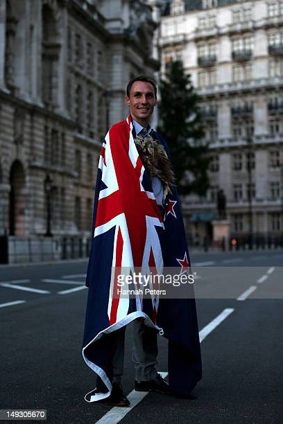 Nick Willis of New Zealand poses on Whitehall after he was announced as the flagbearer for the opening ceremony during the NZOC Governor General's...