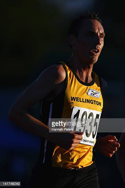 Nick Willis of Wellington competes in the Men's 5000m final during day one of the New Zealand Track and Field Championships-Olympic Trials at Trusts...