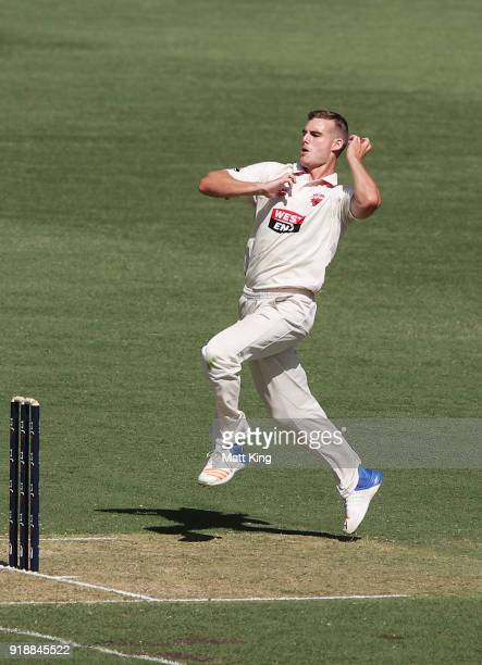 Nick Winter of the Redbacks bowls during day one of the Sheffield Shield match between New South Wales and South Australia at Sydney Cricket Ground...