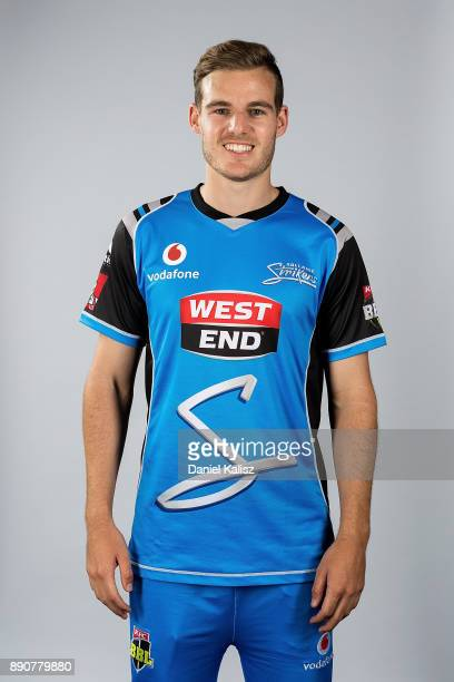 Nick Winter poses during the Adelaide Strikers Big Bash League headshots session on December 12 2017 in Adelaide Australia