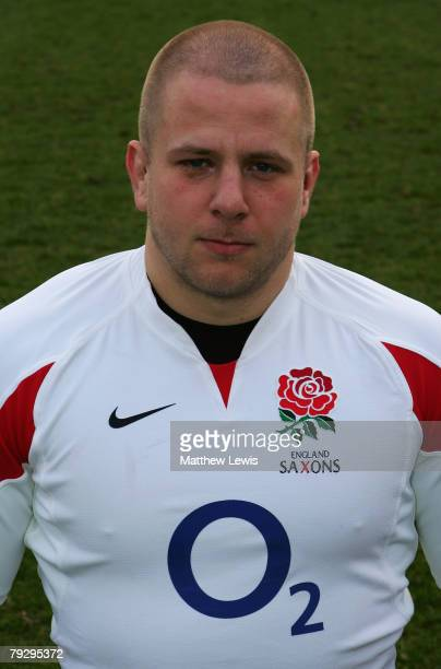 Nick Wood of the England Saxons pictured during Training at Loughborough University on January 28 2008 in Loughborough England