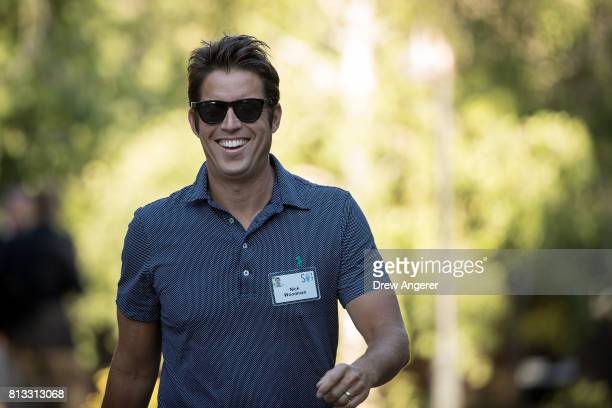 Nick Woodman chief executive officer of GoPro attends the second day of the annual Allen Company Sun Valley Conference July 12 2017 in Sun Valley...