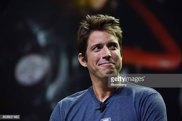 Nick Woodman founder and chief executive officer of GoPro Inc listens during an event at the 2016 Consumer Electronics Show in Las Vegas Nevada US on...