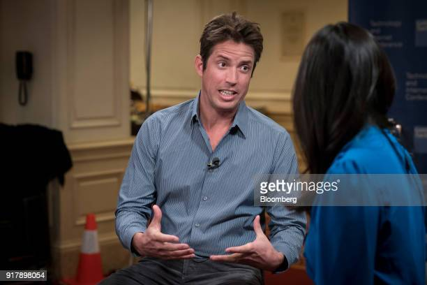 Nick Woodman founder of extreme sports camera maker GoPro Inc speaks during a Bloomberg Television interview at the Goldman Sachs Technology and...