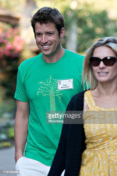 Nick Woodman the founder of extreme sports camera maker GoPro arrives for a morning session during the Allen Co Media and Technology Conference in...