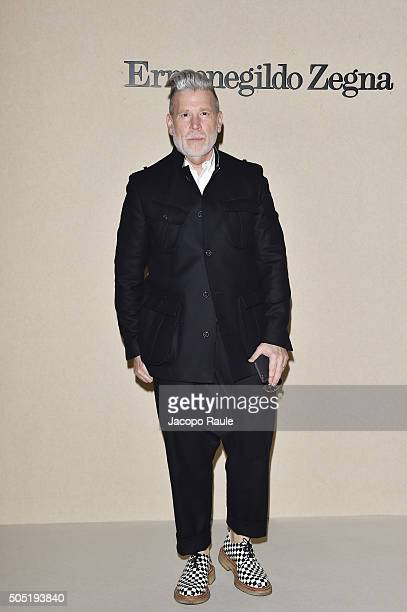 Nick Wooster attends the Ermenegildo Zegna show during Milan Men's Fashion Week Fall/Winter 2016/17 on January 16 2016 in Milan Italy