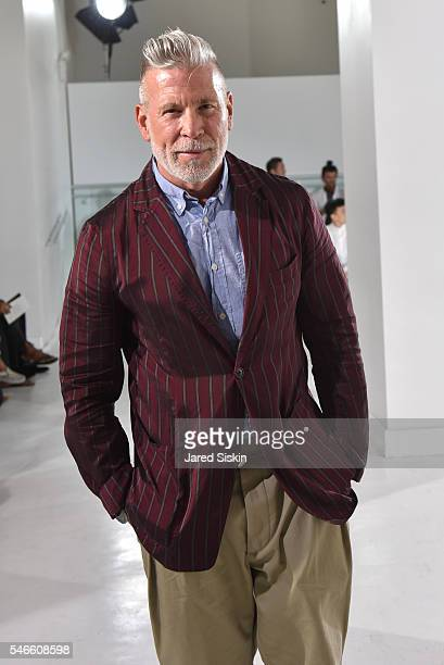 6e3c0797efd Nick Wooster attends the N Hoolywood runway show during New York Fashion  Week Men s S
