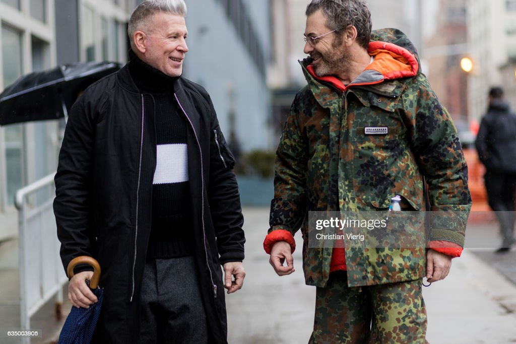 Nick Wooster outside J. Crew on February 12, 2017 in New York City.