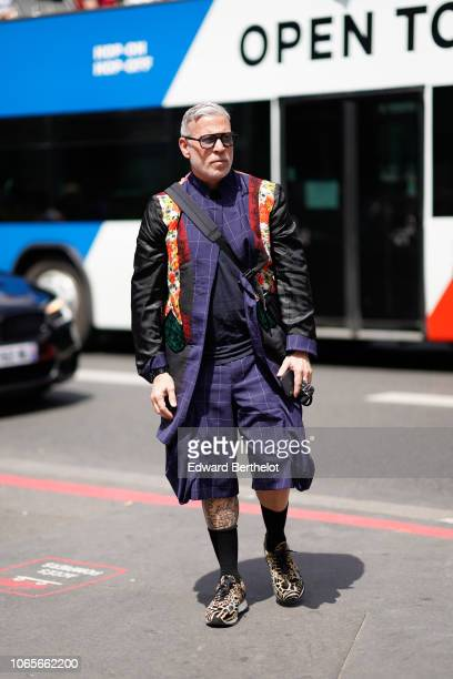 Nick Wooster outside Rick Owens during Paris Fashion Week Menswear SpringSummer 2019 on June 21 2018 in Paris France