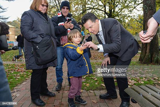 Nick Xenophon leader of the Nick Xenophon Team political party meets supporters in the Adelaide Hills town of Stirling on July 3 2016 Australia was...