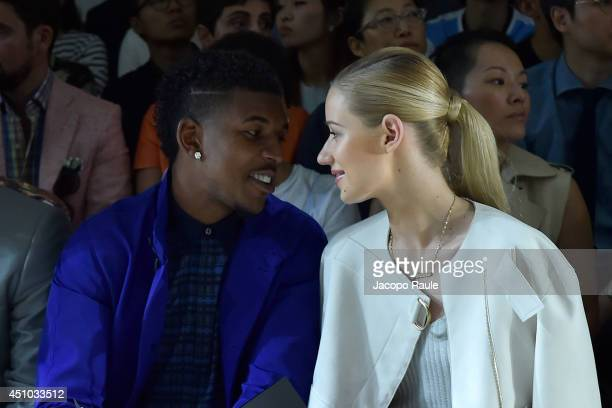Nick Young and Iggy Azalea attend Calvin Klein Collection during Milan Fashion Week Menswear Spring/Summer 2015 on June 22 2014 in Milan Italy