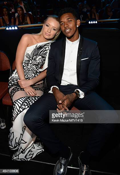 Nick Young and Iggy Azalea attends the 2014 MTV Video Music Awards at The Forum on August 24 2014 in Inglewood California