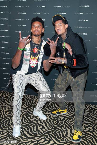 Nick Young and Jordan Clarkson attend the Fashion Nova x Cardi B Collection Launch Party at Hollywood Palladium on May 08 2019 in Los Angeles...