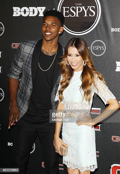Nick Young and Michelle Marie arrive at the BODY at ESPYS PreParty held at Lure on July 15 2014 in Hollywood California