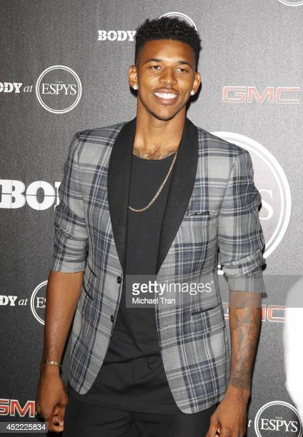 Nick Young arrives at the BODY at ESPYS PreParty held at Lure on July 15 2014 in Hollywood California