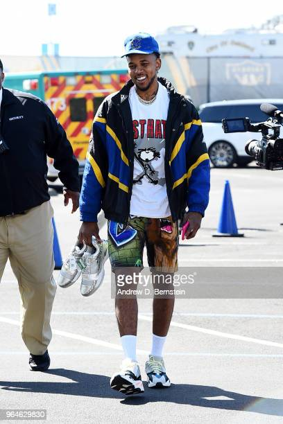 Nick Young of the Golden State Warriors arrives to the arena ahead of Game One of the 2018 NBA Finals against the Cleveland Cavaliers on May 31 2018...