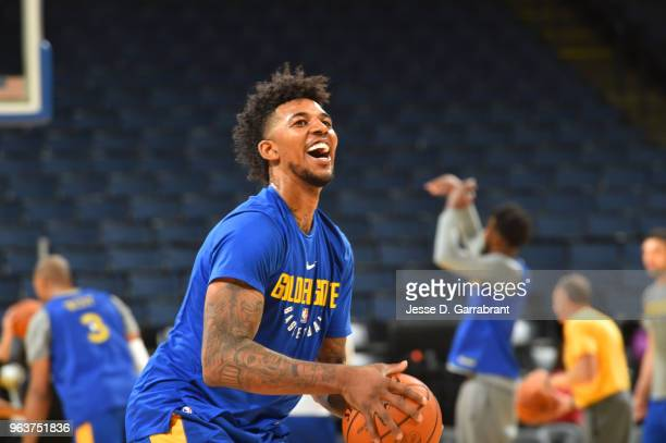 Nick Young of the Golden State Warriors during practice and media availability as part of the 2018 NBA Finals on MAY 30 2018 at ORACLE Arena in...