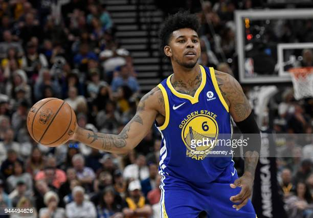 ec64e371f9a9 Nick Young of the Golden State Warriors passes the ball in the second half  of a