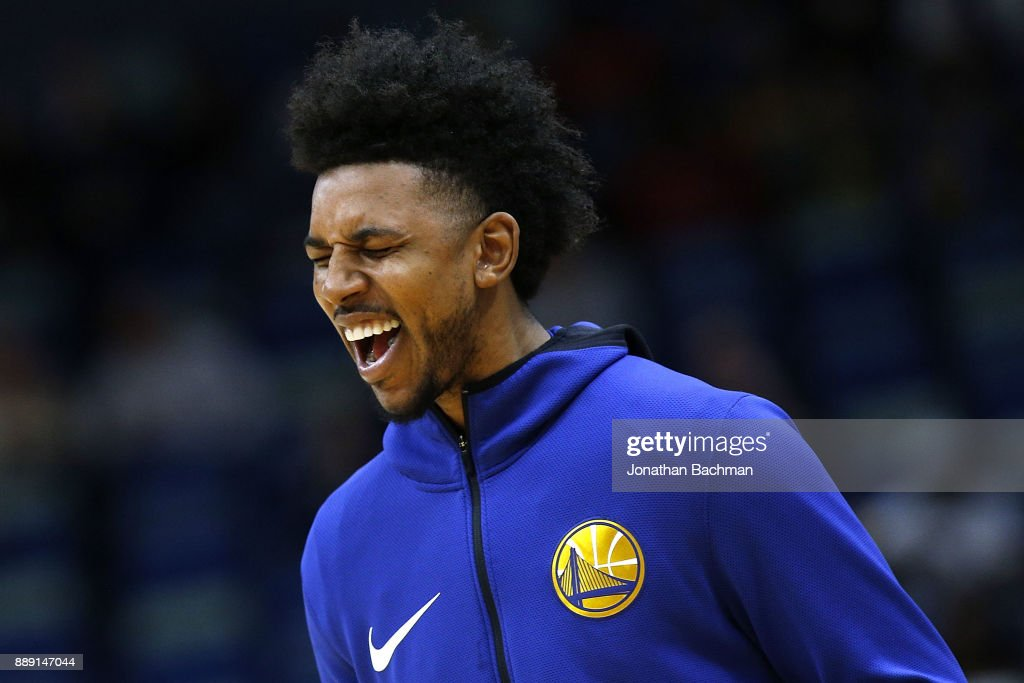 Nick Young #6 of the Golden State Warriors warms up before a game against the New Orleans Pelicans at the Smoothie King Center on December 4, 2017 in New Orleans, Louisiana.