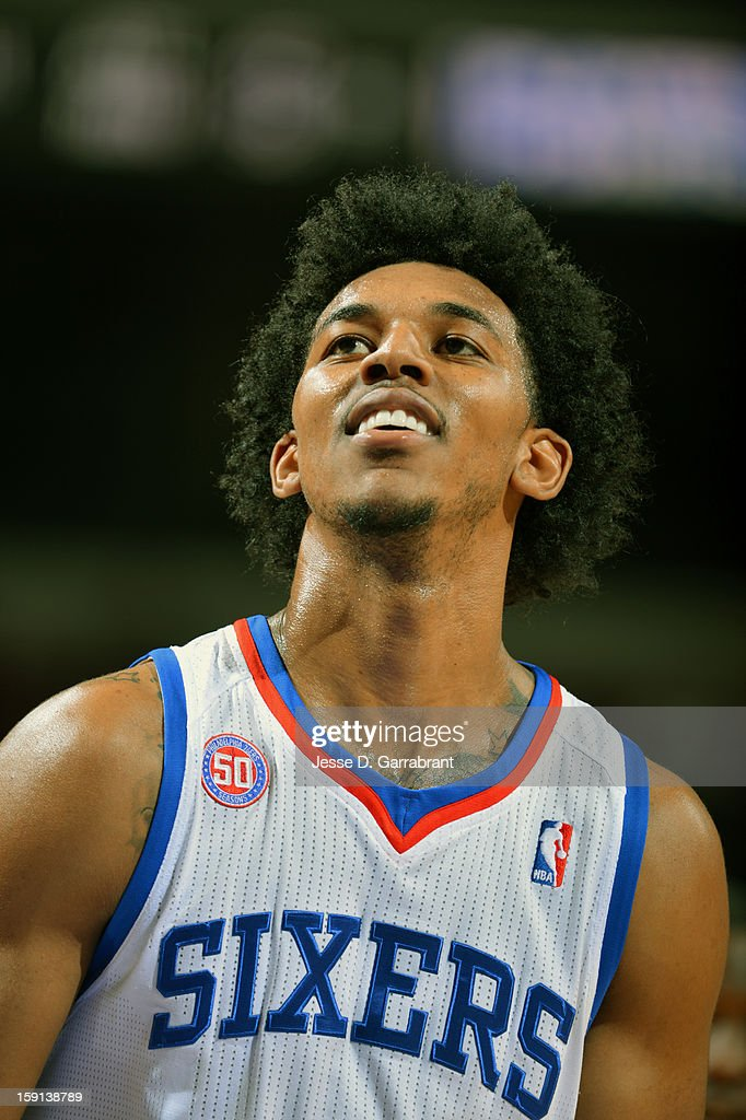 Nick Young #1 of the Philadelphia 76ers during the game at the Wells Fargo Center on January 8, 2013 in Philadelphia, Pennsylvania.