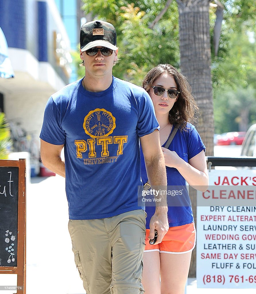 Nick Zano and Kat Dennings are seen on July 27, 2013 in Los Angeles, California.