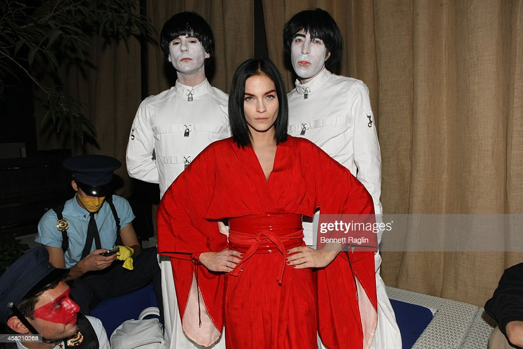 Nick Zinner, Leigh Lezark, and Jeremy Scott attends the OMG, Is That Blood?: The Byrne Notice Halloween Party at Mondrian Soho on October 31, 2014 in New York City.