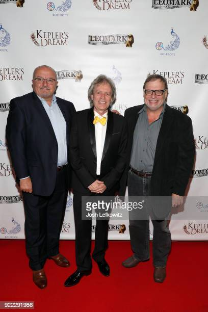 Nick Zuvic Erik Lundmark and Richard Marks attend the Kepler's Dream premiere at Regency Plant 16 on November 30 2017 in Van Nuys California
