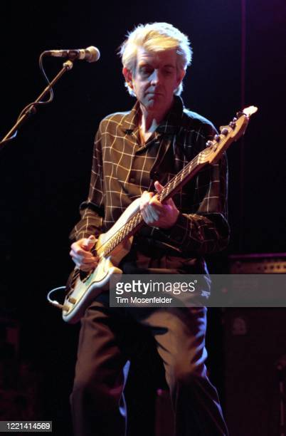 Nicke Lowe of Little Villiage performs at the Warfield Theatre on April 7, 1992 in San Francisco, California.