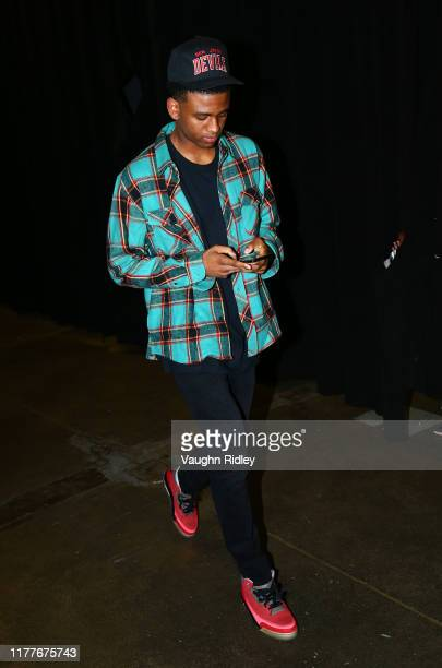 Nickeil AlexanderWalker of the New Orleans Pelicans arrives for an NBA game against the Toronto Raptors at Scotiabank Arena on October 22 2019 in...