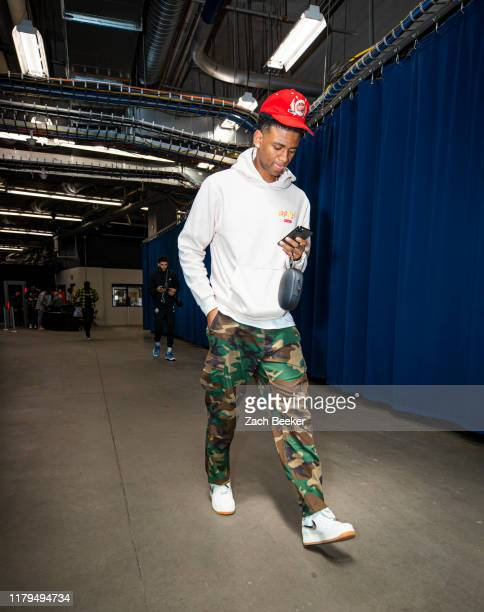 Nickeil AlexanderWalker of the New Orleans Pelicans arrives for the game against the Oklahoma City Thunder on November 2 2019 at Chesapeake Energy...