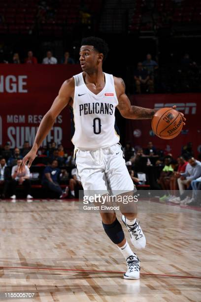 Nickeil AlexanderWalker of the New Orleans Pelicans handles the ball against the Cleveland Cavaliers on July 10 2019 at the Thomas Mack Center in Las...