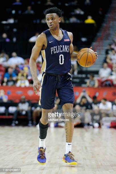 Nickeil AlexanderWalker of the New Orleans Pelicans in action against the Chicago Bulls during the 2019 NBA Summer League at the Thomas Mack Center...
