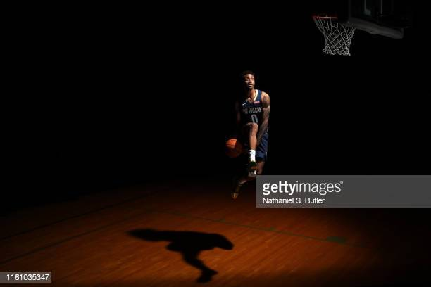 Nickeil AlexanderWalker of the New Orleans Pelicans poses for a portrait during the 2019 NBA Rookie Photo Shoot on August 11 2019 at Fairleigh...