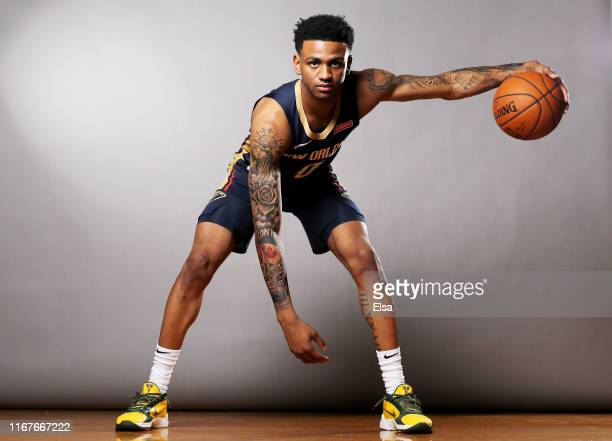 Nickeil AlexanderWalker of the New Orleans Pelicans poses for a portrait during the 2019 NBA Rookie Photo Shoot on August 11 2019 at the Ferguson...